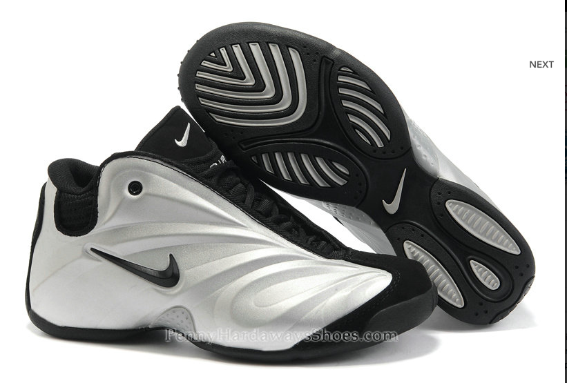 innovative design cf2f4 ae056 Nike Air Podposite Armor Basketball Shoes Silver Black