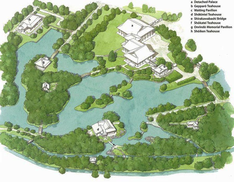plan de la villa katsura