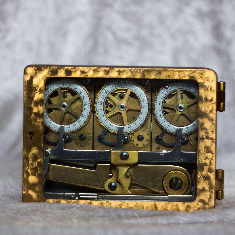 Triple Clock Vault Door Time Lock 1930 Sargent & Greenleaf