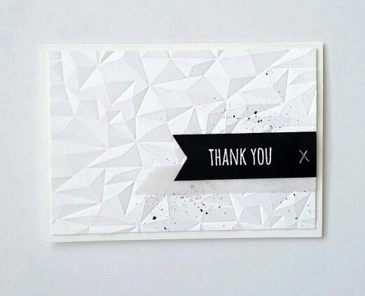 Super simple card made to look NOT so simple with WRMK next level embossing folders.   Cool,  right?