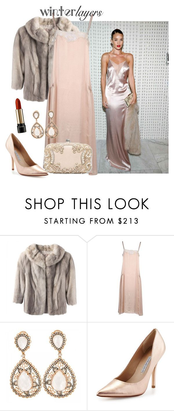"""""""Winter layers: slip dress"""" by anchilly23 ❤ liked on Polyvore featuring Whiteley, Mes Demoiselles..., H&M, Charles David, Lancôme, women's clothing, women, female, woman and misses"""