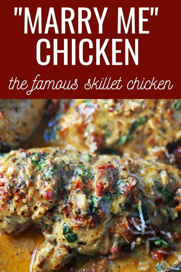 The BEST Skillet Chicken Recipe. Quick, easy, and flavorful chicken recipe. This Marry Me Chicken is famous for good reason! This may just inspire marriage proposals...it is that good! www.modernhoney.com #marrymechicken #chicken #skilletchicken #dinner #easydinner