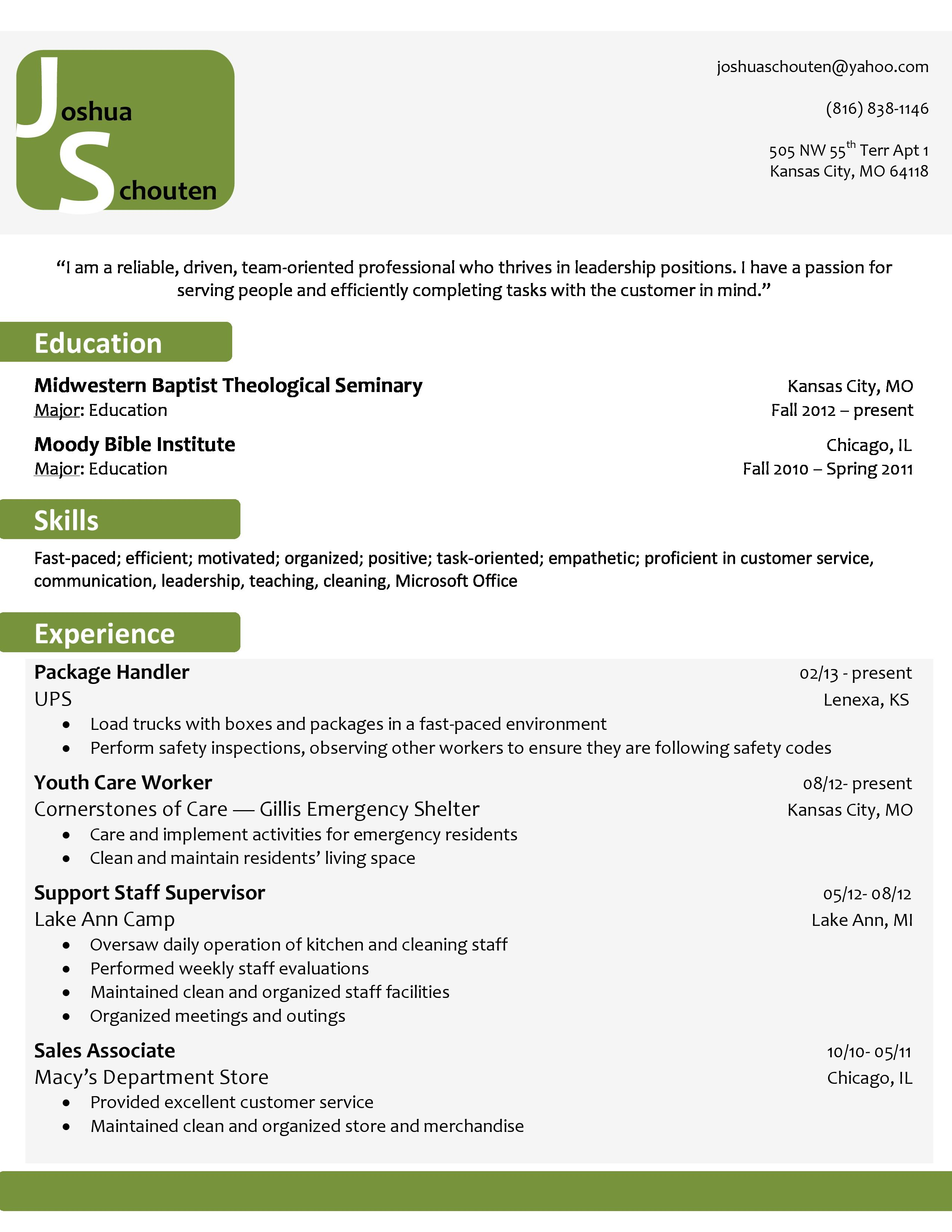 professional green gray and white resume buy the template for just 15 - Buy Resume Templates