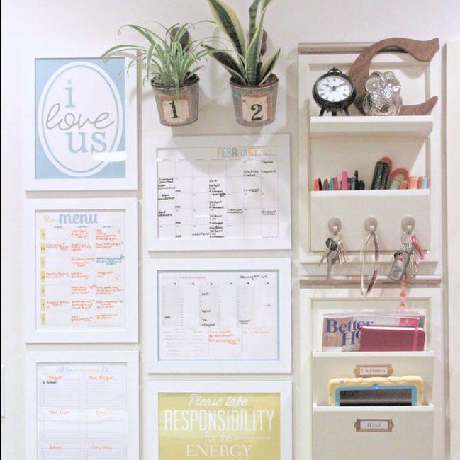 10 DIY Family Command Center Ideas   Home Organization   Pinterest ...