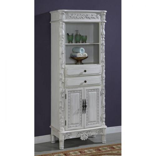 Title: Lorana Linen Cabinet - Title: Lorana Linen Cabinet Antique-white Linen Cabinet