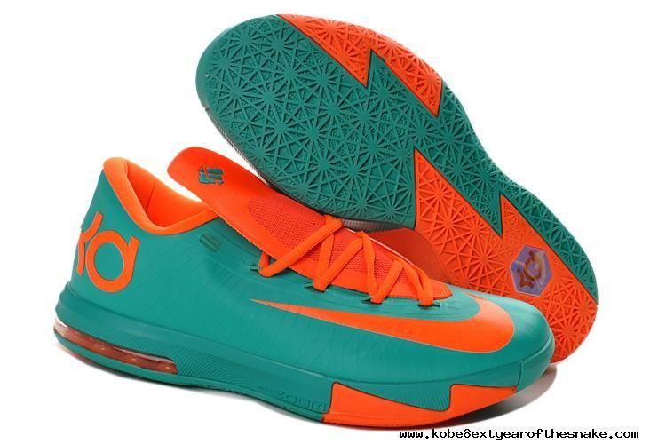 the best attitude c90f2 950bd Nike Zoom KD 6 Blue Orange 599424-040 Basketball Shoes