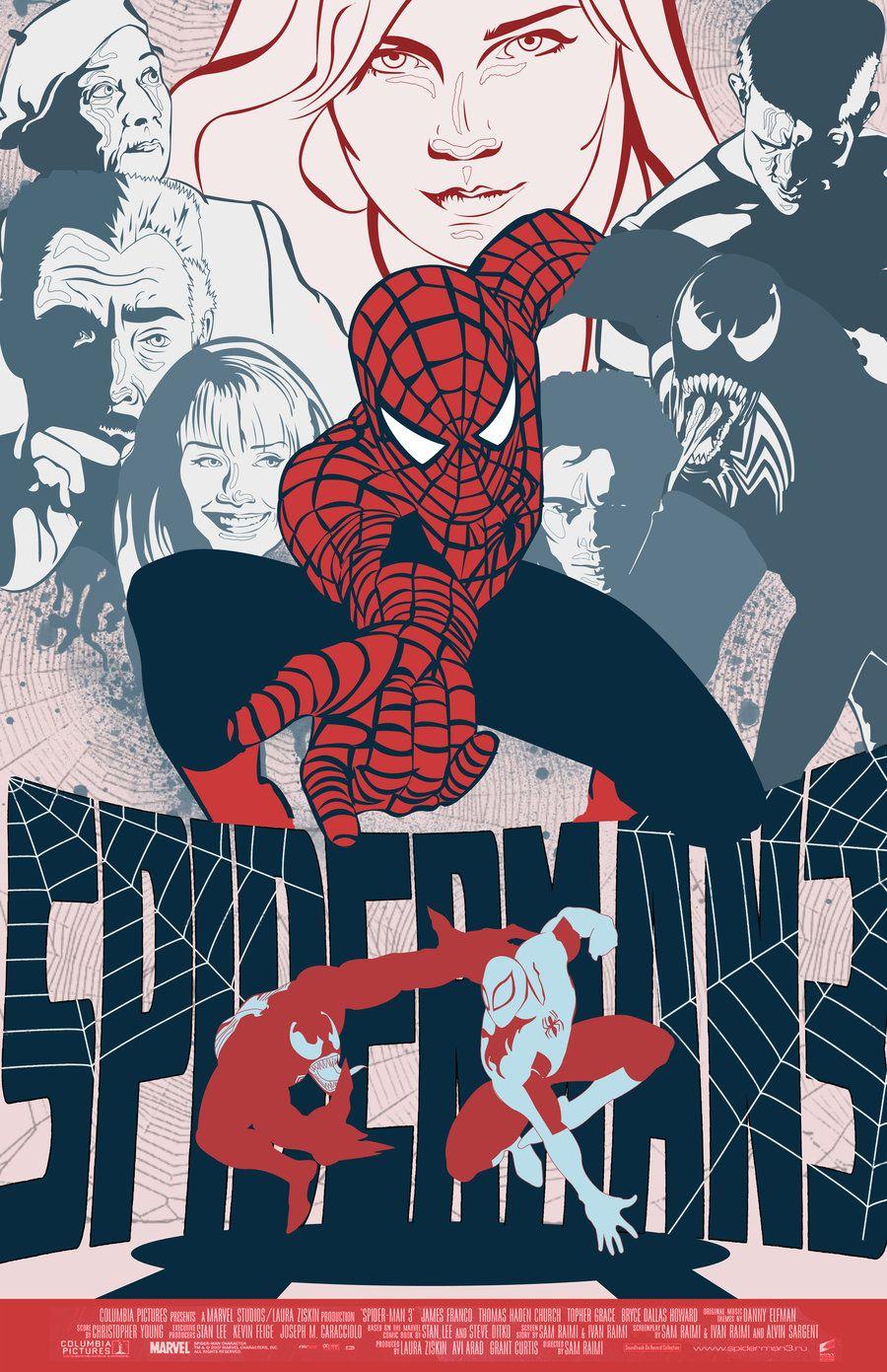 3 color poster designs - Spiderman 3 Vector Movie Poster By Nicolehayley Deviantart Com On Deviantart