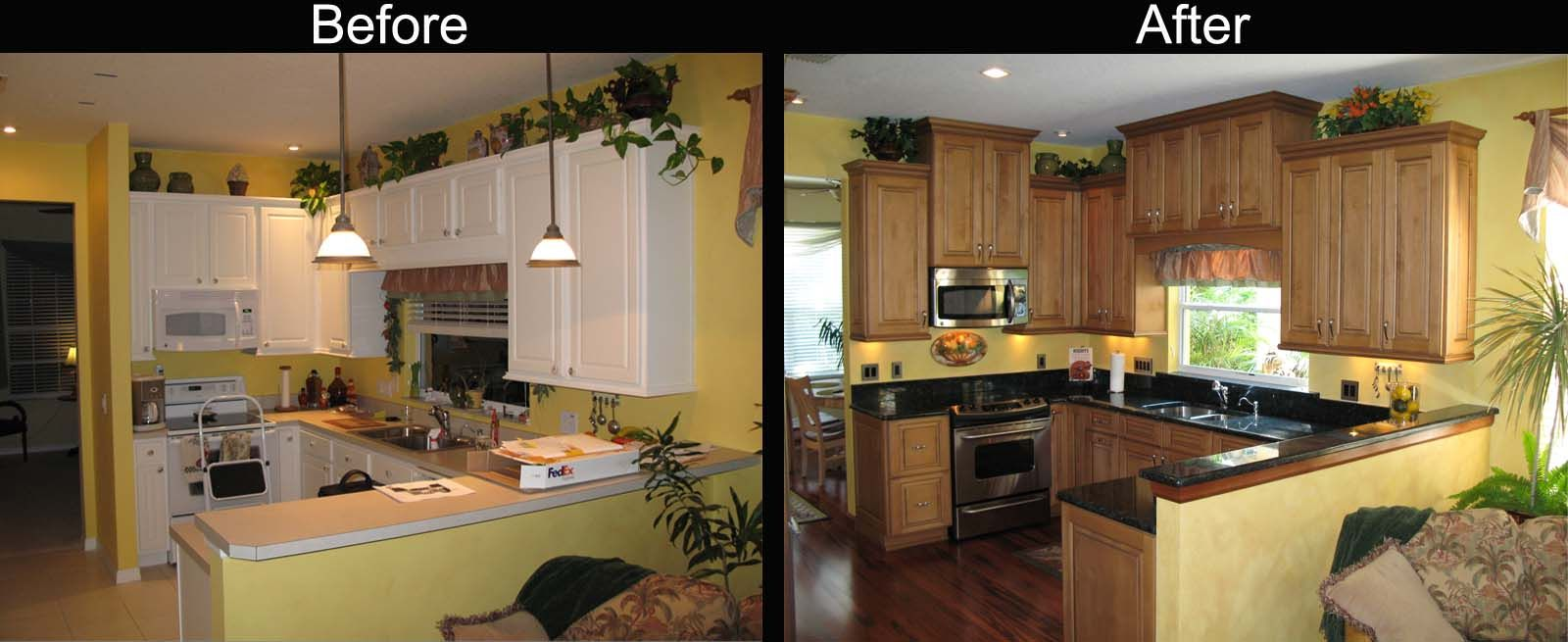 Kitchen Renovation Before And After painted cabinets before and after: ideas for your kitchen