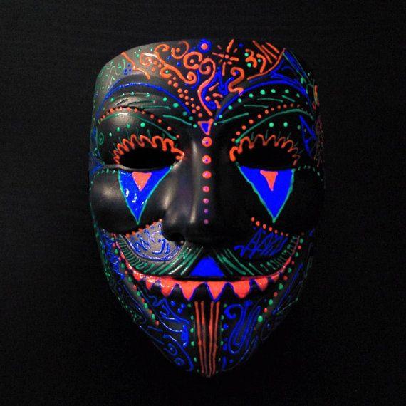 One of a Kind Unique Custom Trippy Psychedelic Sugar Fawkes UV