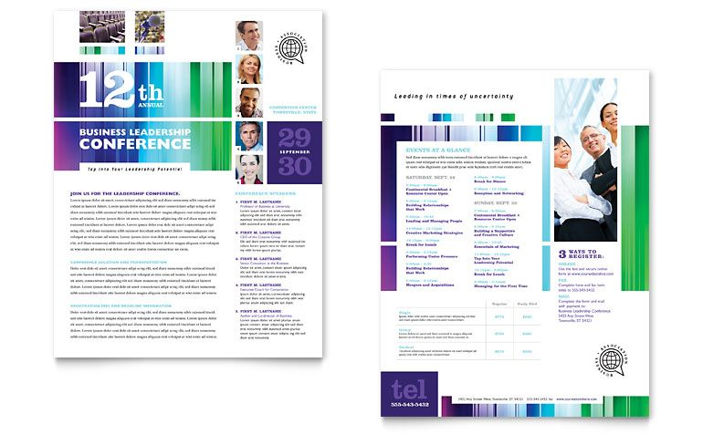 Business Leadership Conference Sales Sheet Design Advertise
