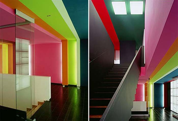 Interior color schemes offices tetrad colours Interior design color palettes