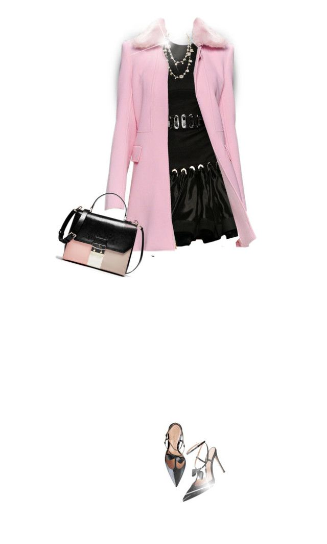 """""""Pink and Black"""" by daiscat ❤ liked on Polyvore featuring David Koma and Chanel"""