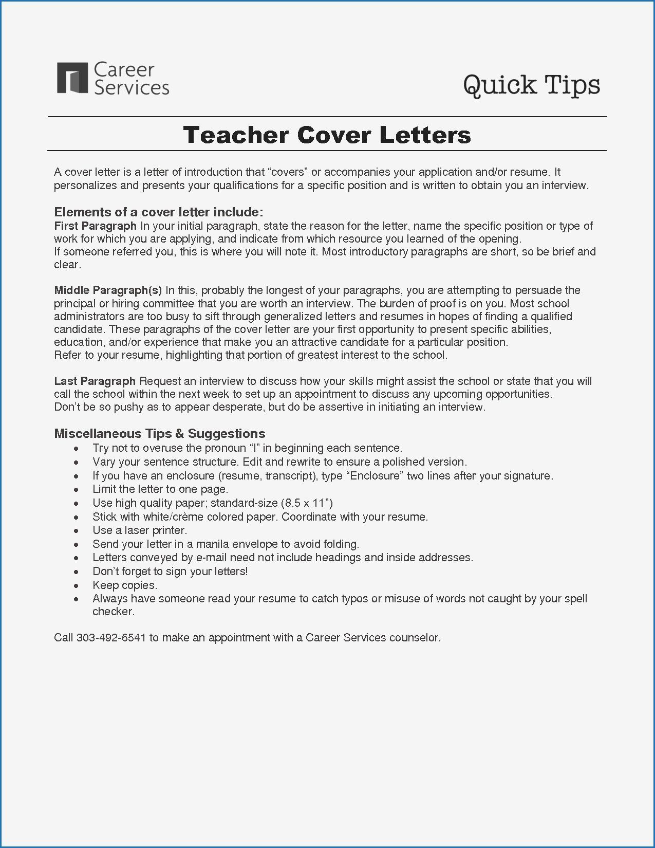 30 School Counseling Resume Examples In 2020 Teaching Cover Letter Teacher Cover Letter Example Cover Letter Teacher