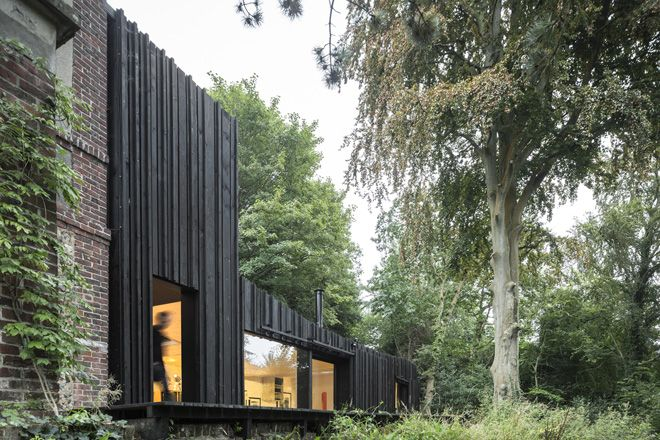Black House in Normandy by Marchi Architectes