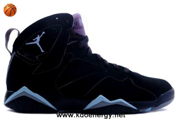 good 1d7ee 5725d Fashion Air Jordan 7 VII Retro Black Chambray-Light Graphite