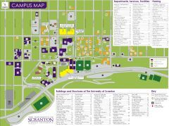 University of Scranton 2D Color coded by building use then