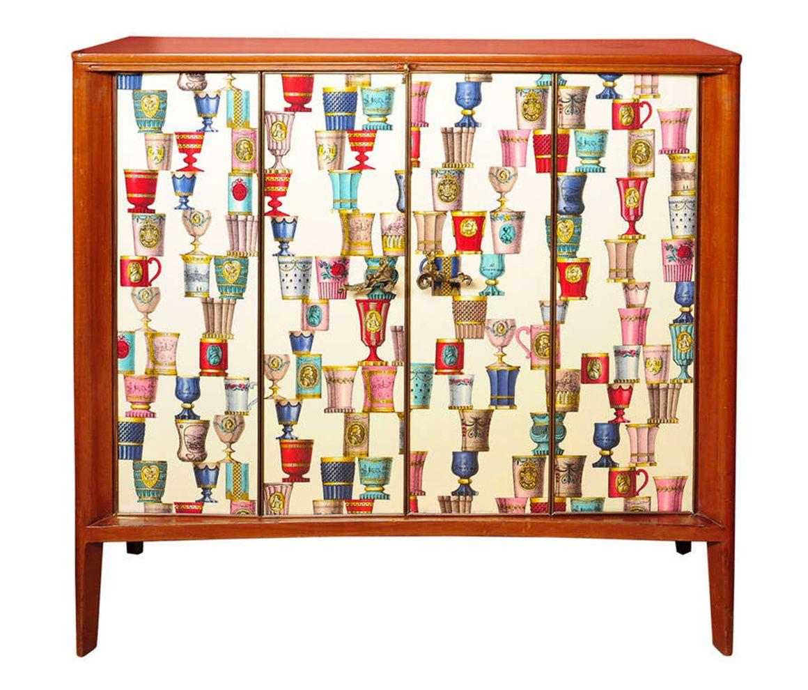 piero fornasetti furniture. vintage furniture le cabinet de borsani fontana et fornasetti piero
