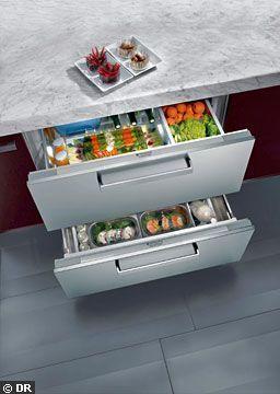 un frigo int grable double tiroir meubles de cuisine les nouveaux tiroirs ont la cote. Black Bedroom Furniture Sets. Home Design Ideas