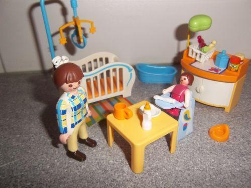 Playmobil 5519 chambre bebe maison moderne playmobil for Playmobil chambre enfant