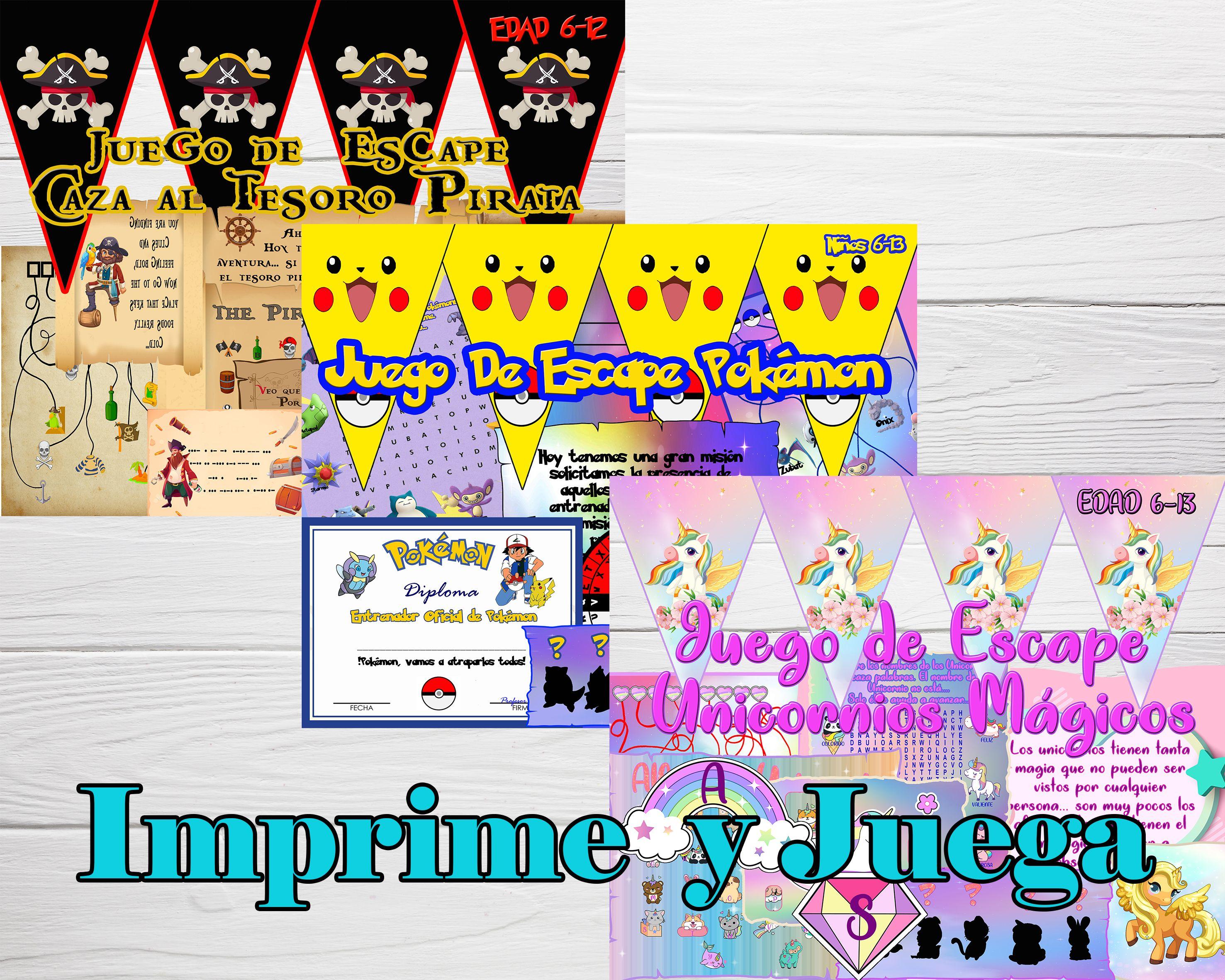 Juegos De Escape Para Niños Imprime Y Juega Juegos Para Casa Pokemon Unique Items Products Print