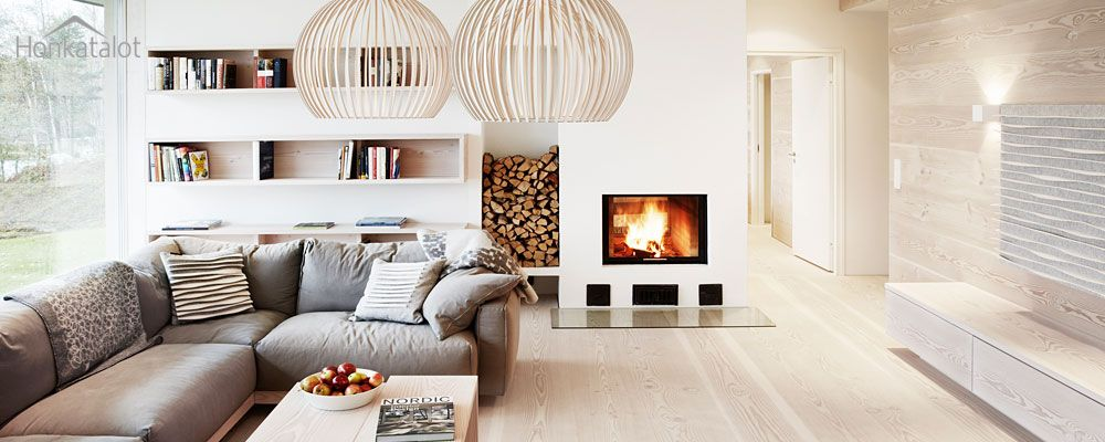 Experience the warm atmosphere of a modern wooden home. Design by ...