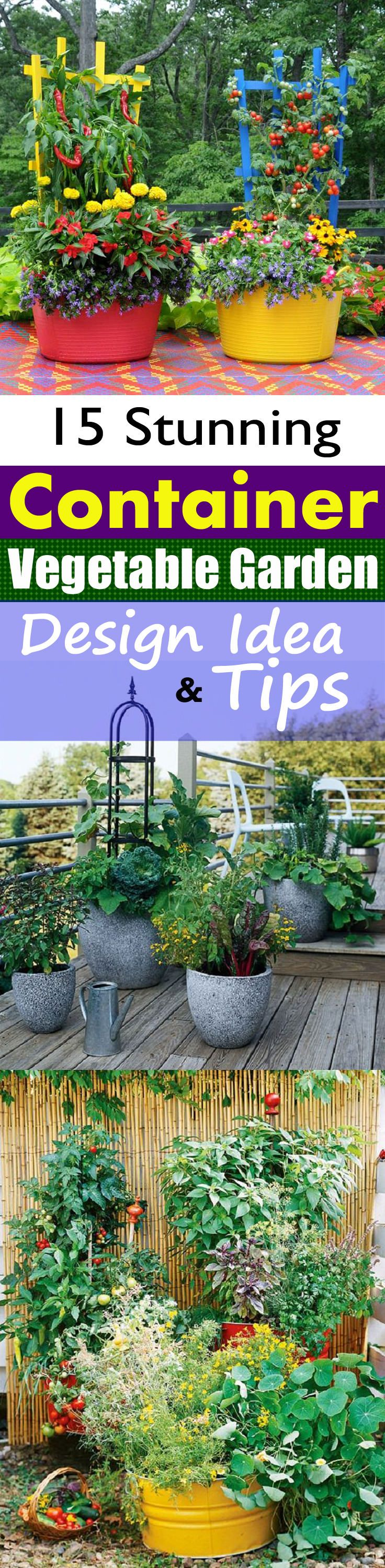 15 Stunning Container Vegetable Garden Design Ideas & Tips ...