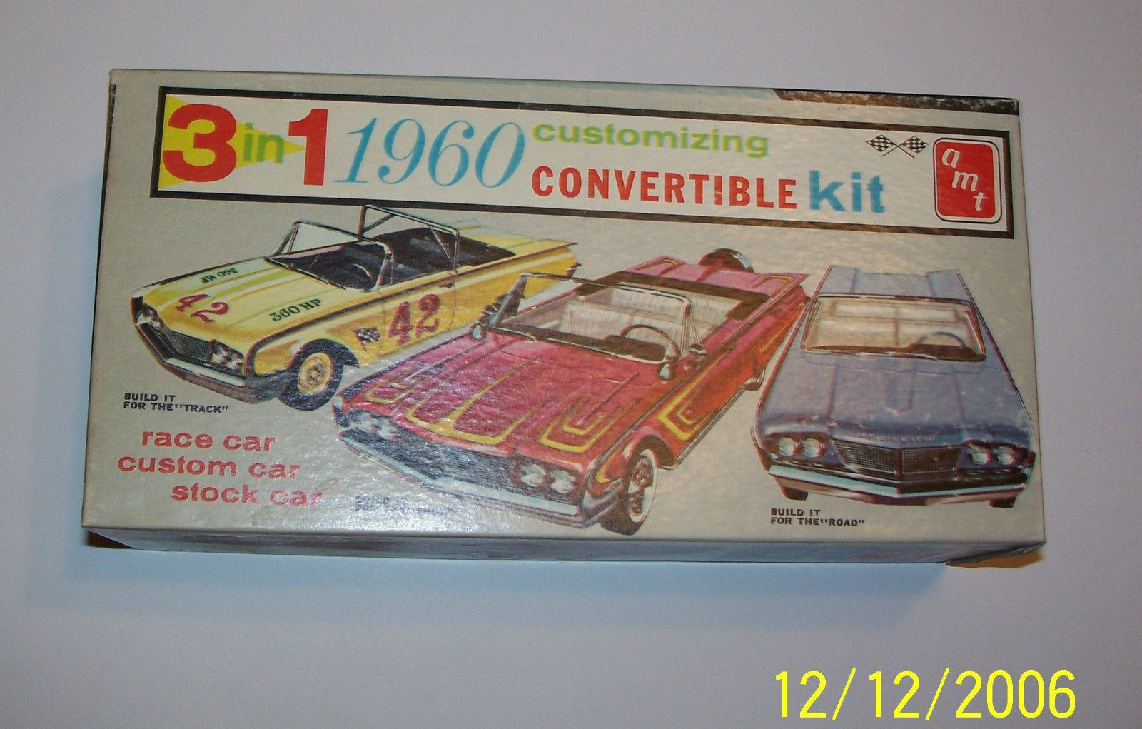 Amt 1960 Ford Edsel Ranger Convertible 3 In 1 Model Car Kit The Rendering On Outside Of Box Looks Nothing Like Actual Though