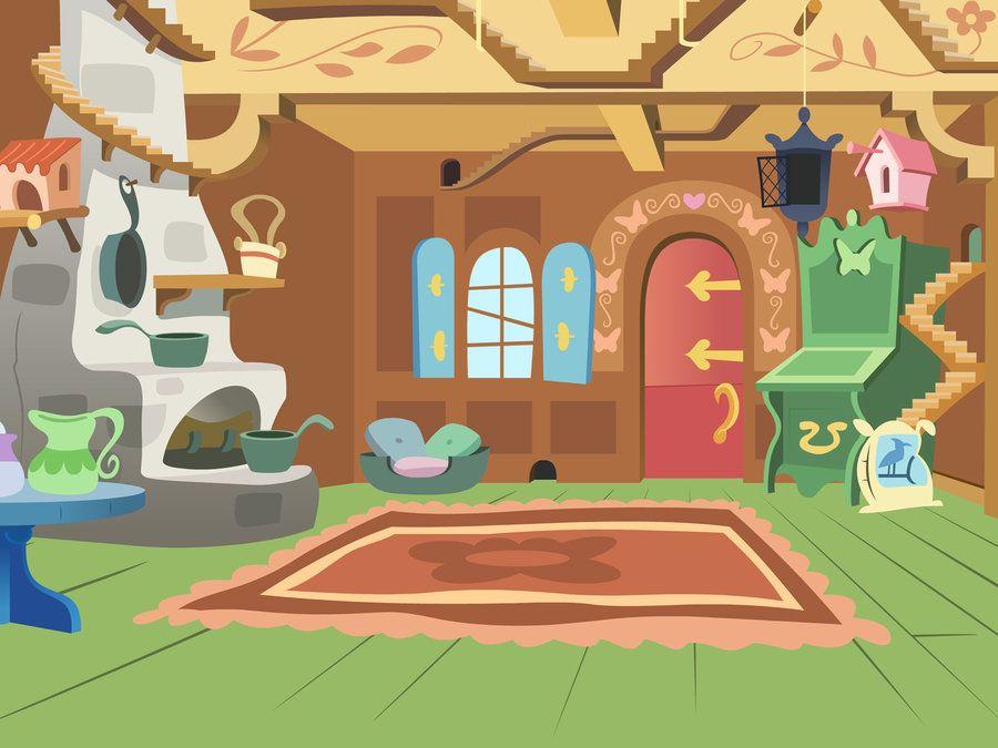 fluttershy s cottage by bitterplaguerat cartoon backgrounds