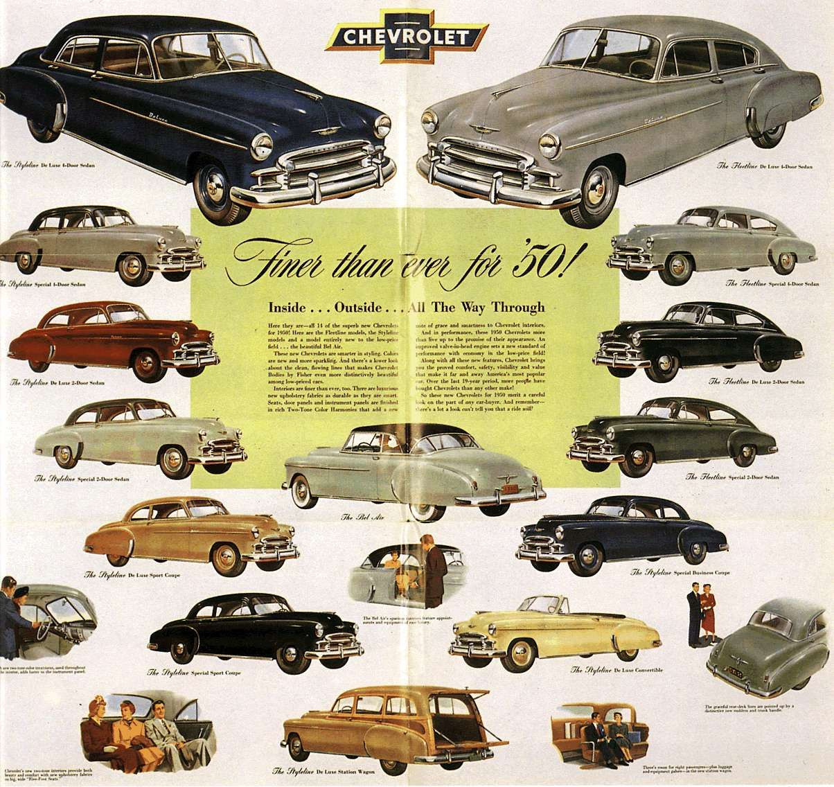 50\'s history | Sales Poster for 1950 cars | My Life-1950\'s ...