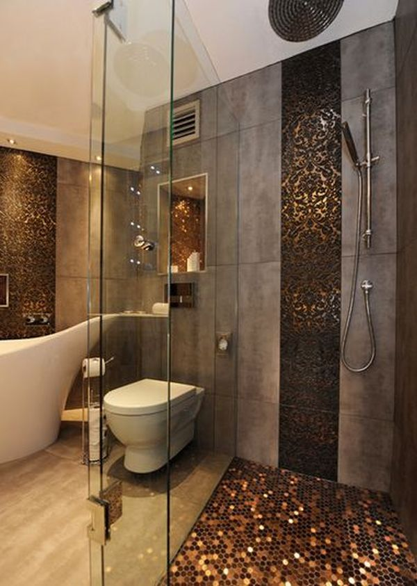 luxury shower walk in - Walk In Shower Tile Design Ideas