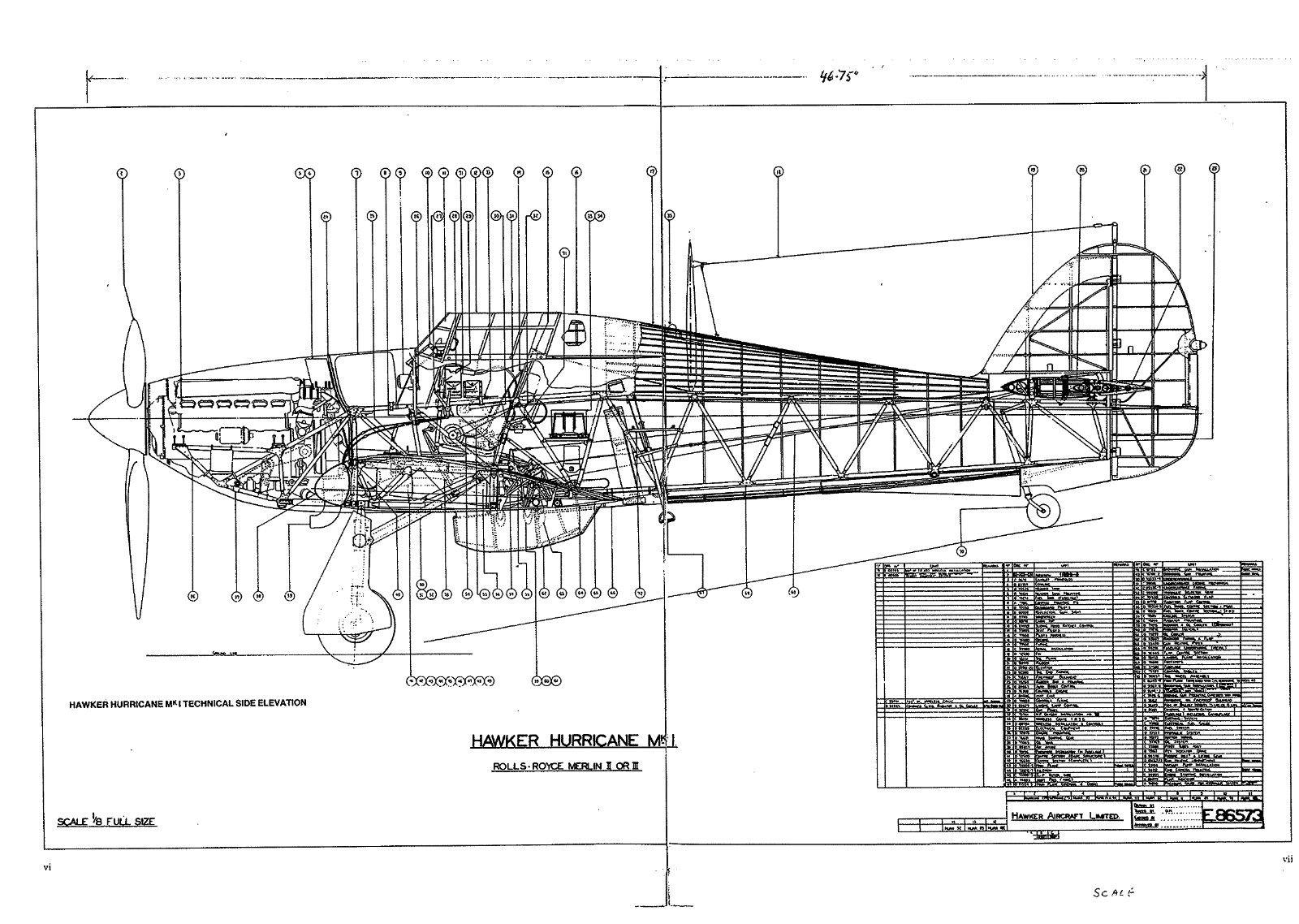 Blueprint Hawker Hurricane