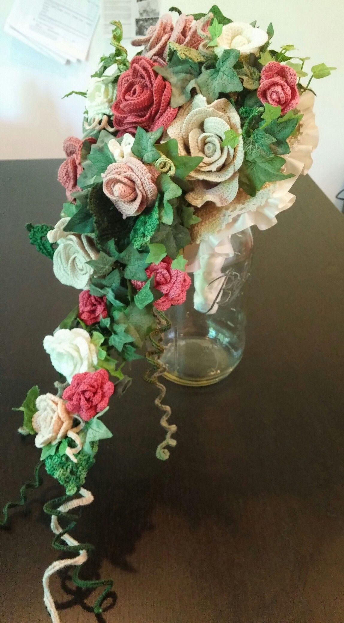 Bridal Bouquet Crochet Bouquet Crochet Garden Crochet Flowers