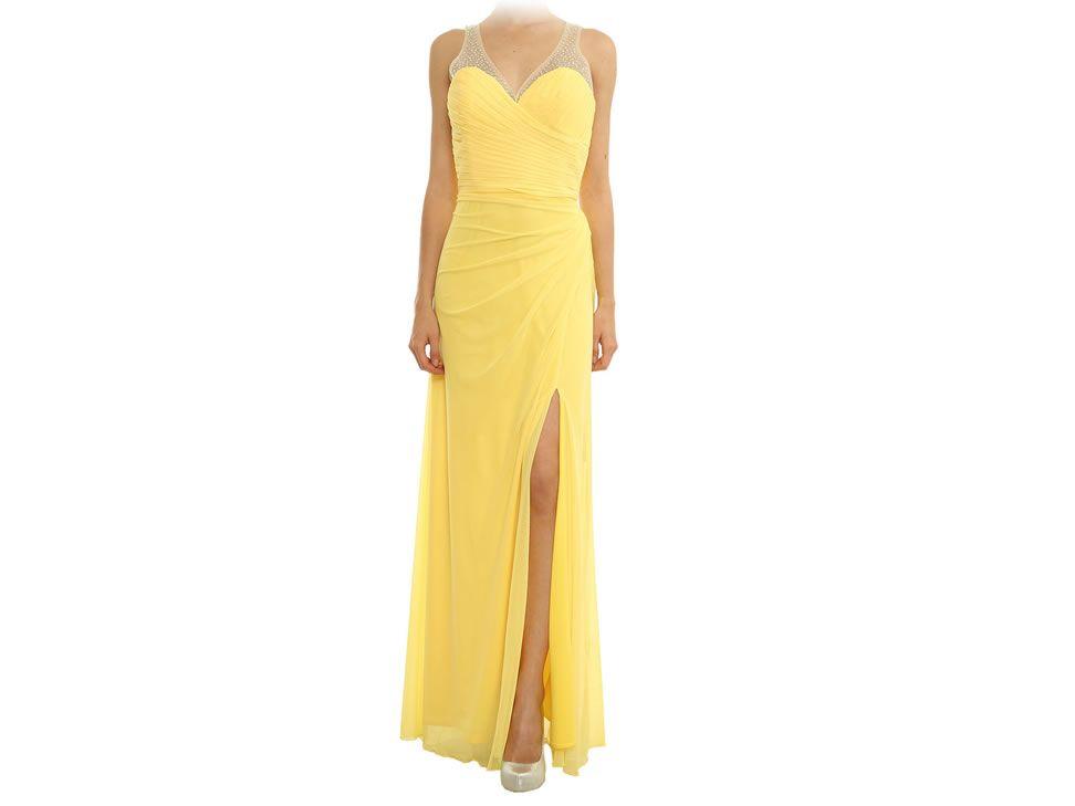 Vestidos fiesta amarillo liverpool