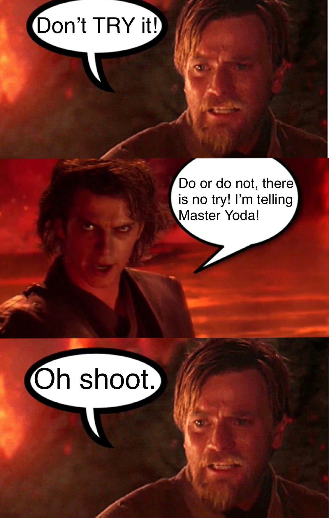 Poor Choice Of Words Obi Wan Star Wars Humor Star Wars Jokes Star Wars Memes