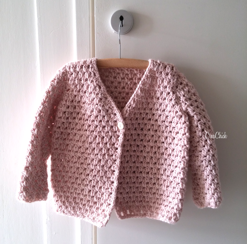 Herfst Kinderjasje Haken Creachick Haken Crochet Knitting En