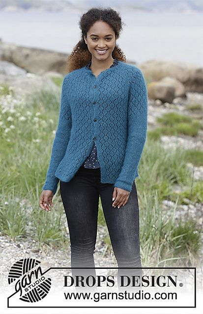 0e5fd6059a32 Free knitting pattern - 181-21 Song of the Sea Cardigan pattern by ...