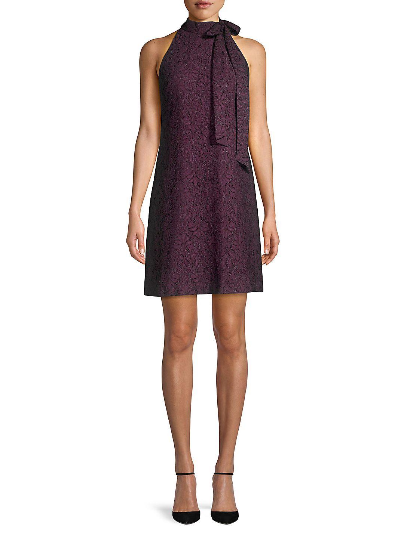 Vince Camuto Bow Neck Lace Halter Sheath Dress Walmart Com Dresses Sheath Dress Fashion [ 1440 x 1080 Pixel ]