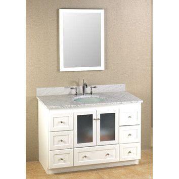 """Ronbow Modular 48"""" Shaker Robow Vanities Sold At Decors R Us 144 Beauteous Bathroom Vanities Nj Design Decoration"""