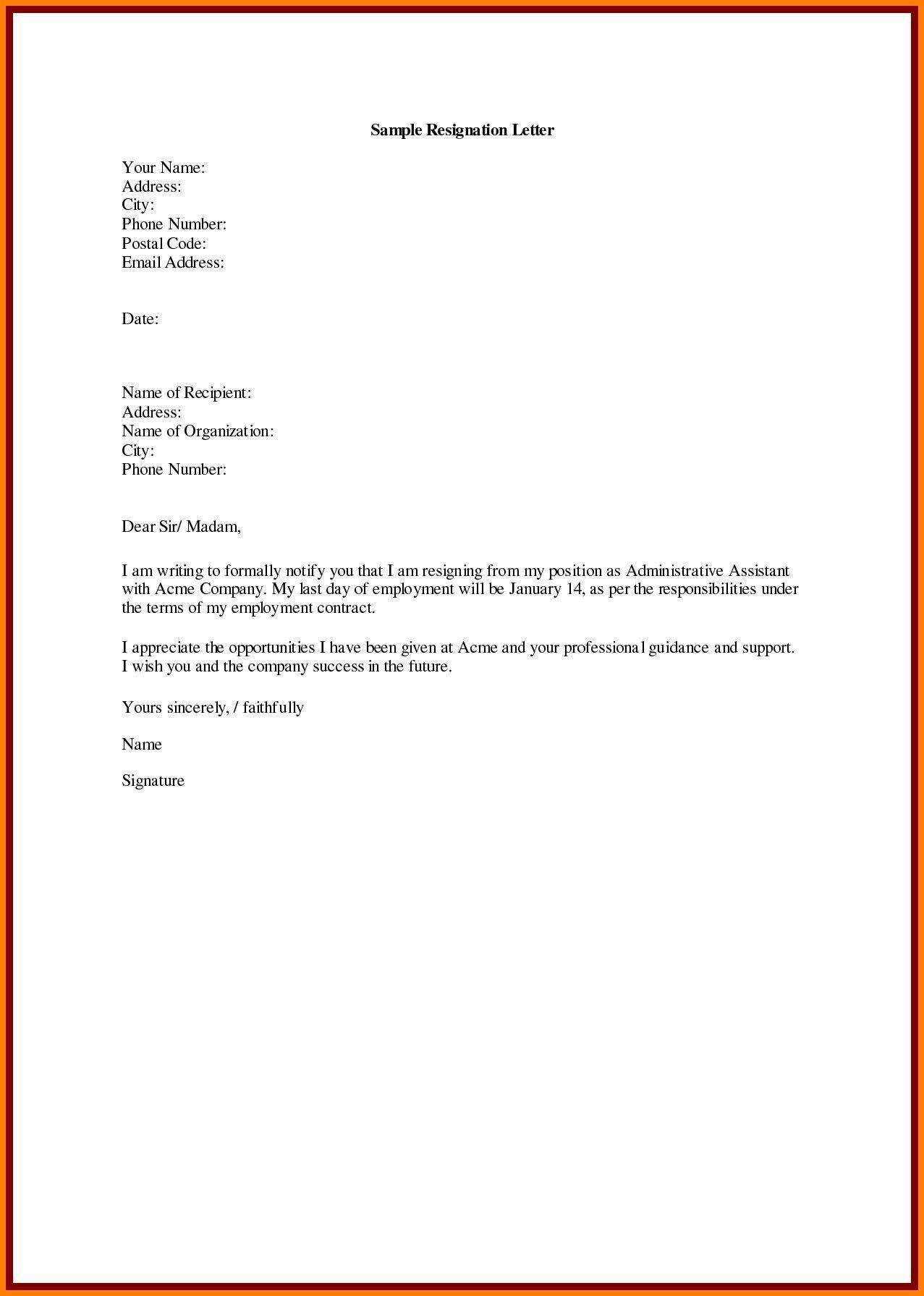 Download Fresh Job Resign Letter Format At Https Gprime Us Job
