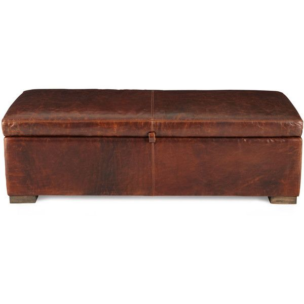 Leonard Leather Storage Bench ($1,499) ❤ Liked On Polyvore Featuring Home,  Furniture,