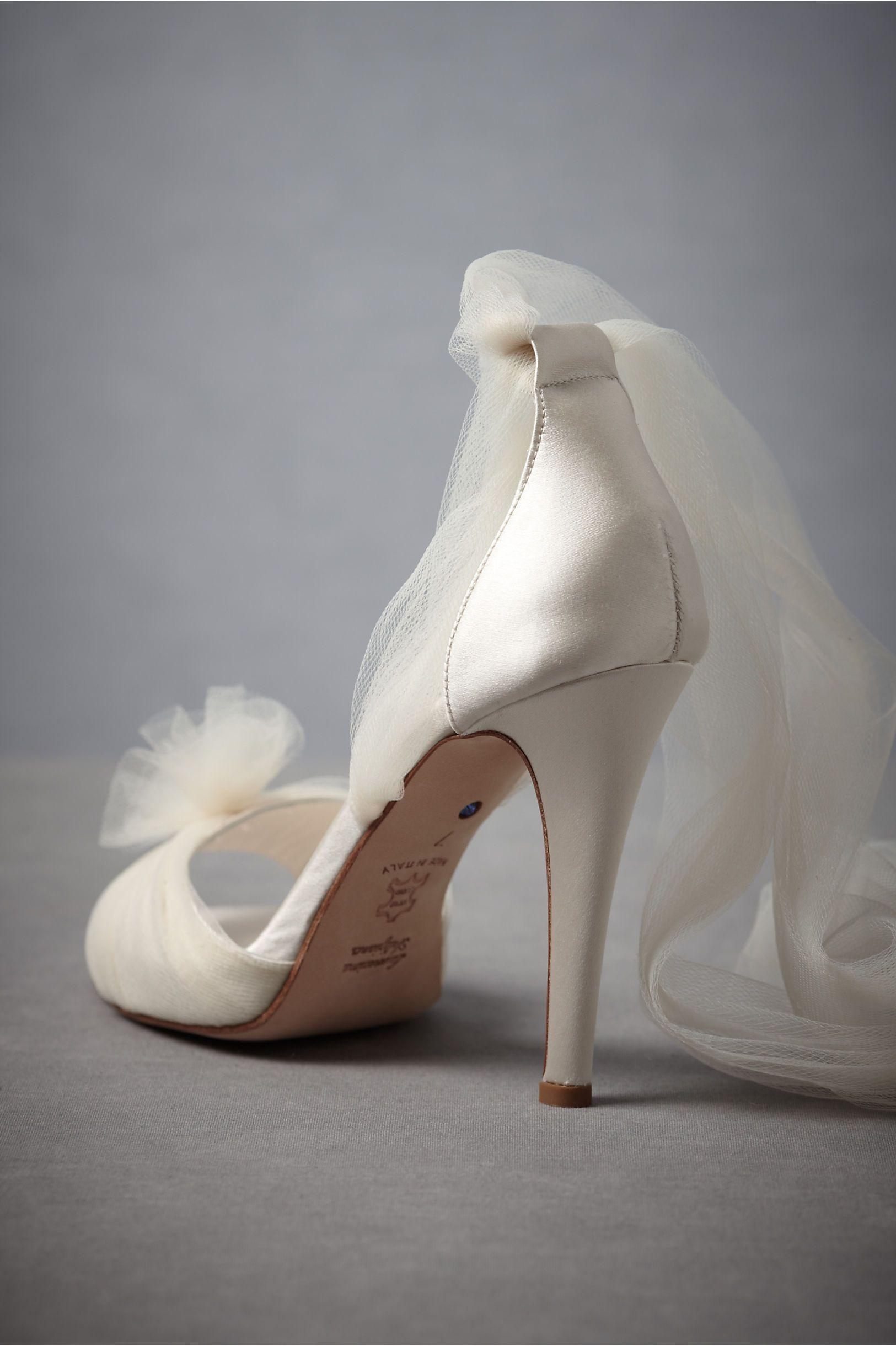Auroral Vapor Heels At Bhldn Tulle Beautiful Wedding Shoes