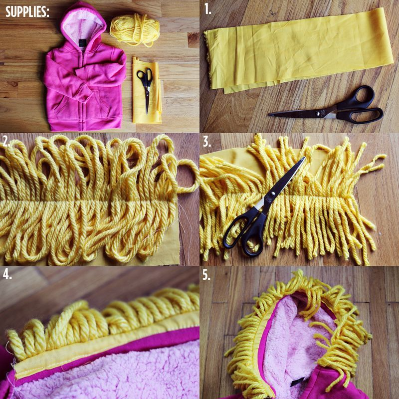 How To Make Lion Mane With Yarn