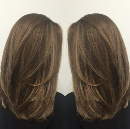 24+  Ideas haircut for women medium straight layered hairstyles