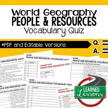 People and resources vocabulary quiz geography assessment people and resources vocabulary quiz geography assessment geography geography map quiz and map quiz gumiabroncs Image collections