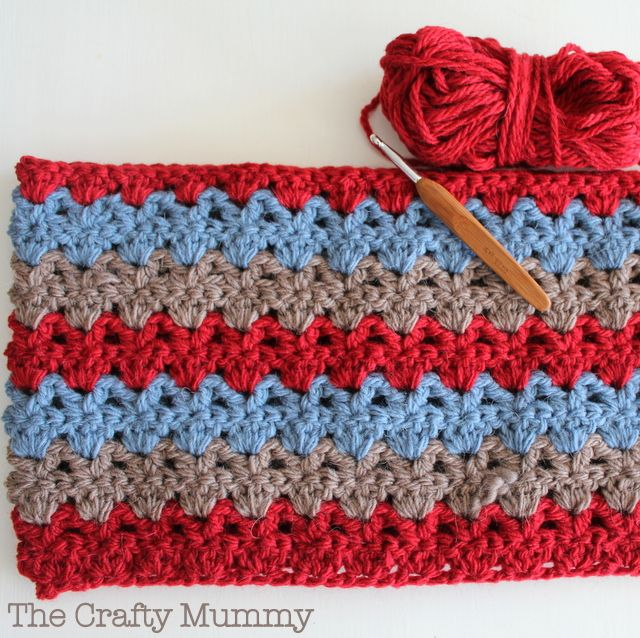Alternating V Shell Afghan - Pattern <3 | Crochet blankets ...