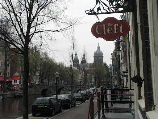 Did charity work here in the Cleft in the Red Light District, Amsterdam