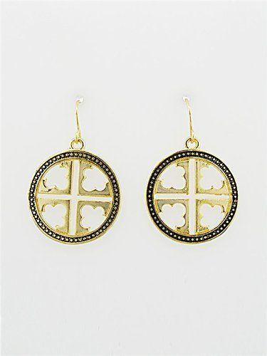 Designer Inspired Goldtone Patterned Cross 3/4 Inch Diameter Design Earrings. Hail Mary Gifts,http://www.amazon.com/dp/B00C1GLFLO/ref=cm_sw_r_pi_dp_J-iTrbE99B5A42A3
