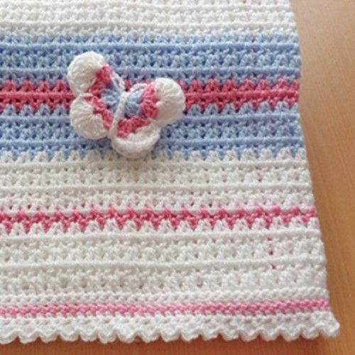 Crochet Butterfly Baby Blanket - Free Pattern (Beautiful ...