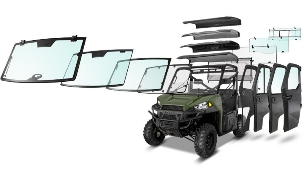 New Pure Polaris Lock Ride Pro Fit Glass Windshield Premium Roof And Hinged Window Doors For Ranger Xp 900 New Products Polaris Ranger 900 Atv Polaris Ranger