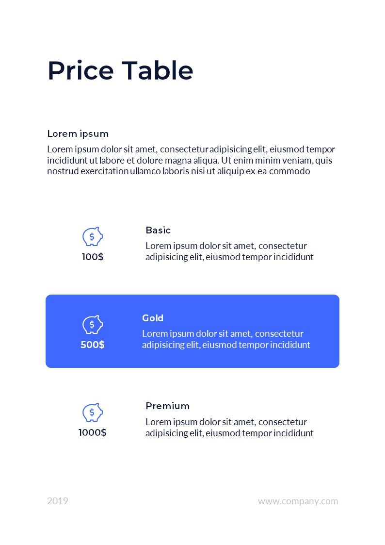 Business Vertical PowerPoint Template Templates